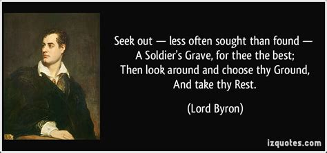 Seek out less often sought than found a soldier s grave for