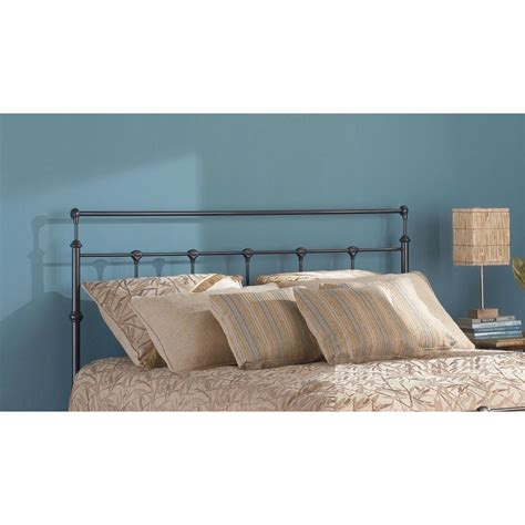size metal headboards fashion bed winslow king size metal headboard with rounded posts and aluminum castings in