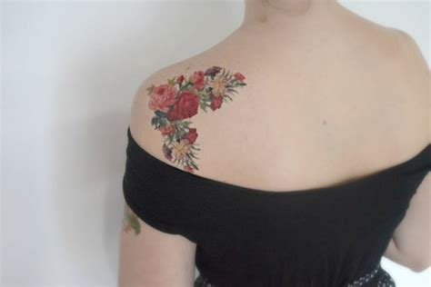 vintage flower tattoo 53 adorable vintage flower shoulder tattoos