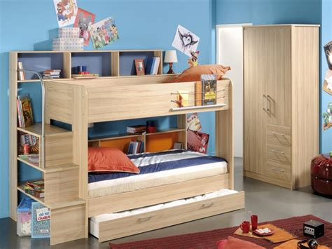Bunk Beds With Storage Space Bedroom Designs Beds With Storage Wooden Bunk Bed Wooden Wardrobe Brown Carpet Blue Wall