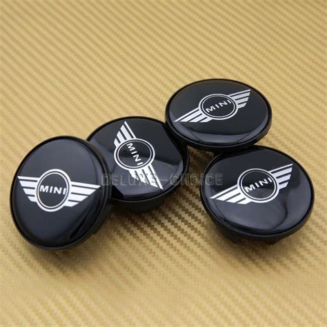 4 car alloy wheel center hub cap emblem badge black logo for mini cooper 54mm ebay