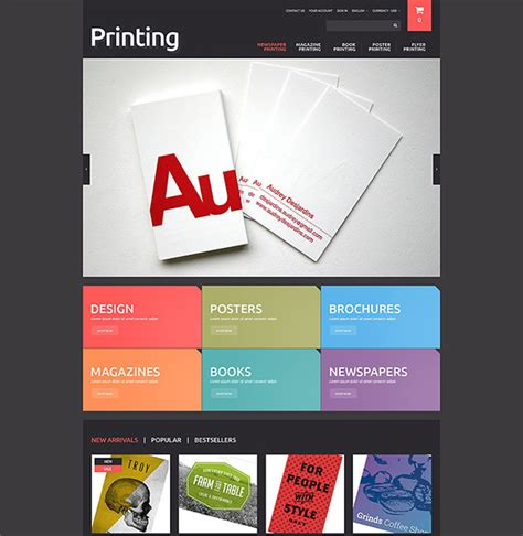 5 Print Shop Prestashop Themes Templates Free Premium Templates Printing Ecommerce Website Template