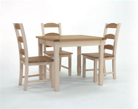 Square Dining Table And Chairs Camden Painted Pine Ash Square Dining Table With Matching Chairs