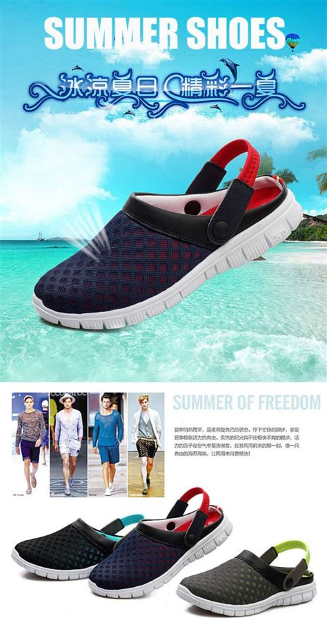 Sepatu Yezi sepatu sandal slip on santai pria size 37 blue
