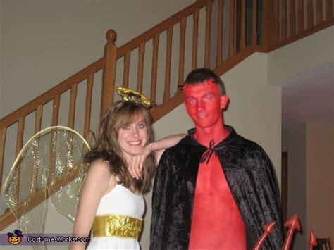 angel  devil homemade halloween costume  couple