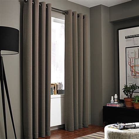 home window curtains kenneth cole reaction home gotham texture lined grommet