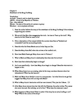 The Things They Carried Chapter 1-22 Reading Questions by