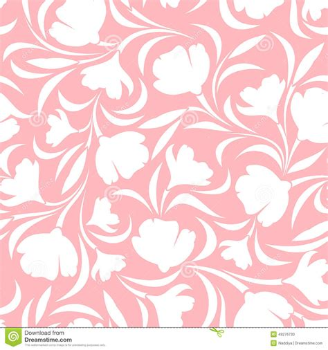 seamless pattern pink free floral pink and white seamless pattern vector