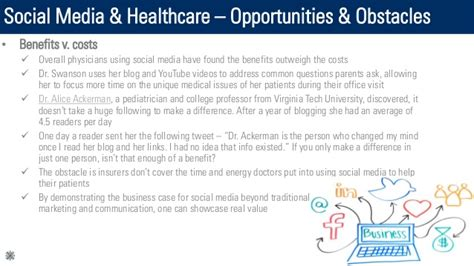 healthcare and social media social media healthcare opportunities obstacles