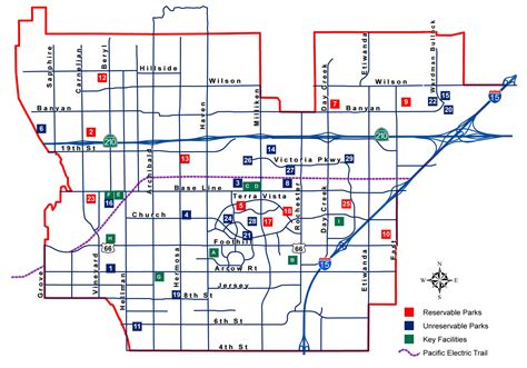 california map rancho cucamonga no to park districts in rancho cucamonga within the panorama
