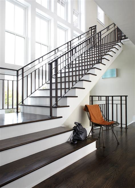 Classic Stairs Design Modern Classic Transitional Staircase New York By Degraw Dehaan Architects