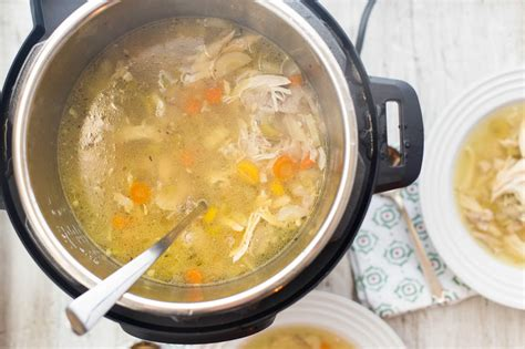 how to make chicken soup in the pressure cooker recipe simplyrecipes com