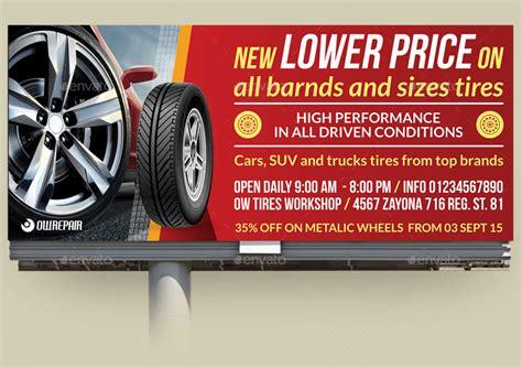 werkstatt werbung tire shop advertising bundle by owpictures graphicriver