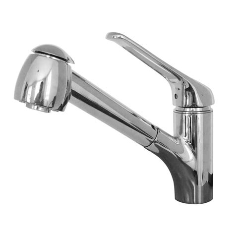 shop franke valais chrome 1 handle pull out kitchen faucet