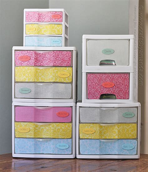 How To Decorate Sterilite Drawers by Makeover Plastic Storage Drawers Crafts By Amanda