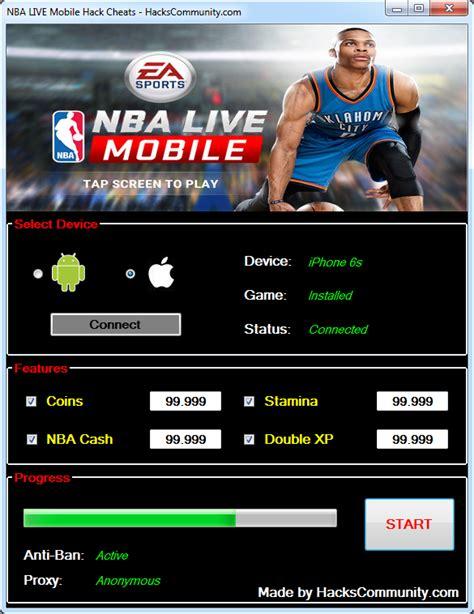 mobile nba nba live mobile hack cheats hackscommunity