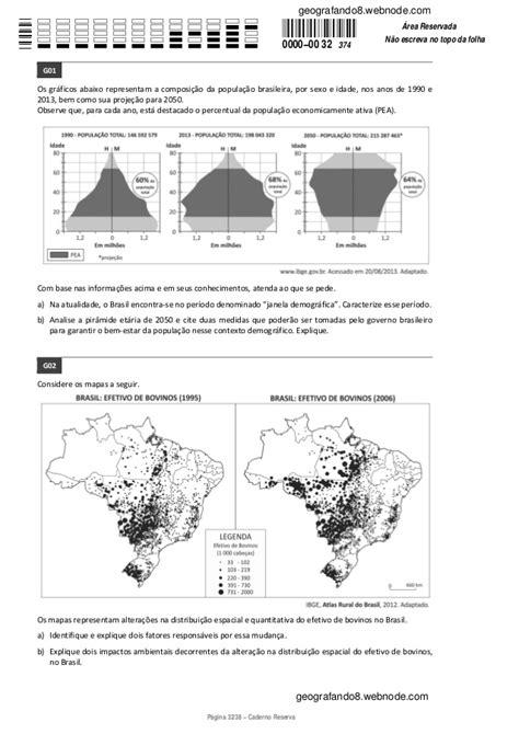 Correção FUVEST 2014: 2ª-fase 3ºdia Geografia
