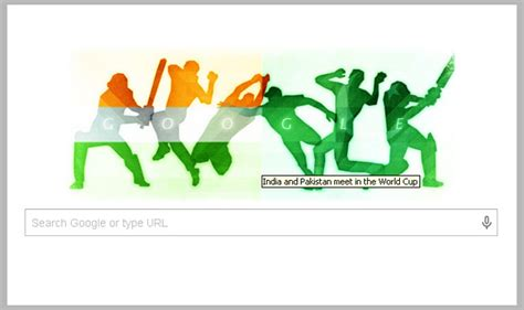 doodle india 2015 cricket world cup doodle portrays india vs