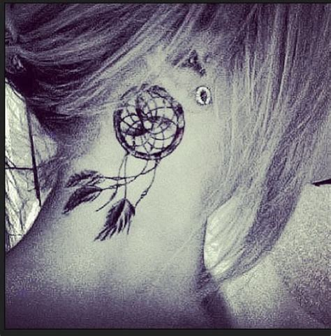 dreamcatcher tattoo behind ear dreamcatcher tattoo behind the ear saw this a few years