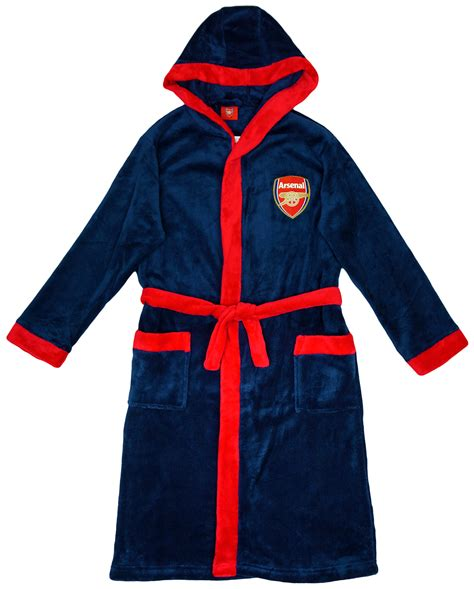 arsenal dressing gown boys official arsenal fc gunners hooded dressing gown bath