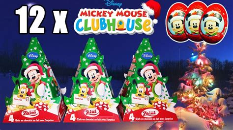 mickey mouse clubhouse christmas 12 eggs mickey mouse clubhouse edition unboxing