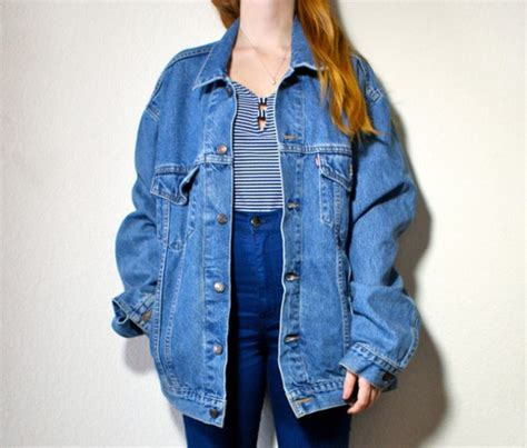 Harga Blouse On Inez soft grunge oversized denim jacket oversized jacket