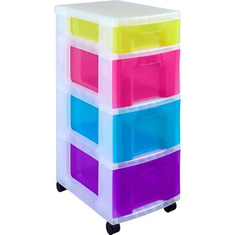 Really Useful Drawer Tower by Really Useful Mobile 4 Drawer Storage Tower