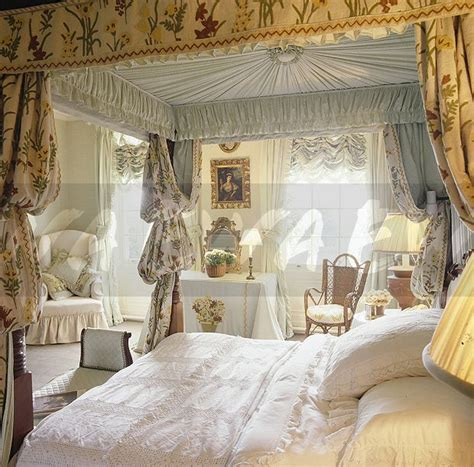 Four Poster Bed Curtains Drapes Image White Vintage Linen On Four Poster Bed With Opulent Drapes In Eighties Bedroom Ewa