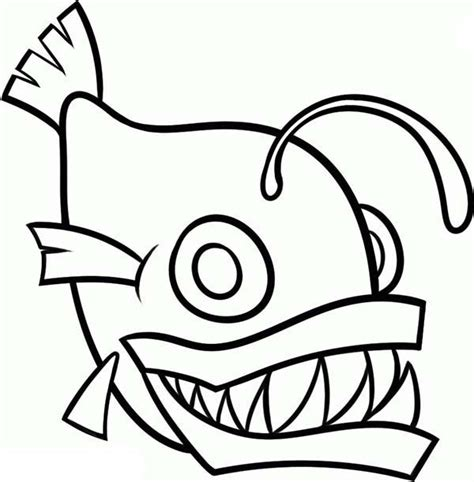 coloring pages of angler fish angler fish outline coloring pages best place to color
