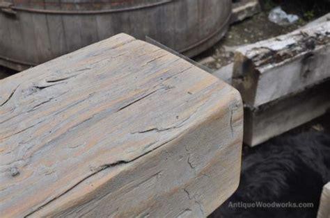 rectangular hand hewn ash fireplace mantel ethyl antique woodworks