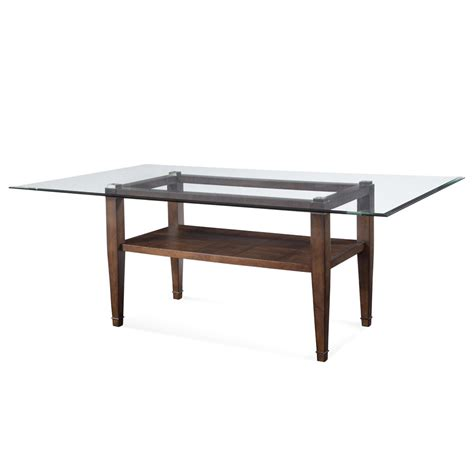 Dining Table In Glass Bassett Mirror Dunhill Rectangular Glass Dining Table In Walnut Beyond Stores