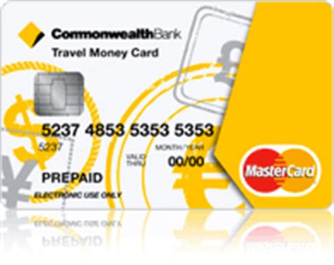 commonwealth bank travel money card using pre paid travel money cards