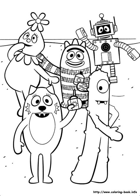 yo gabba gabba coloring pages free printable yo gabba gabba coloring picture