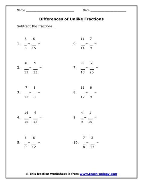Adding Fractions With Unlike Denominators Worksheets Pdf by Adding Unlike Fractions Worksheets Kelpies