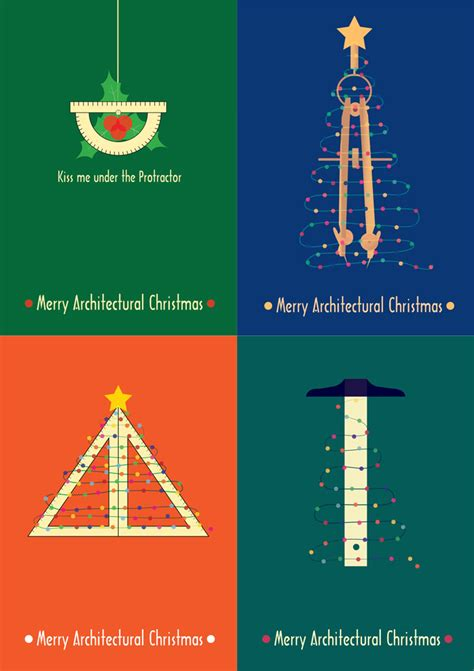architectural christmas posters  diy cards