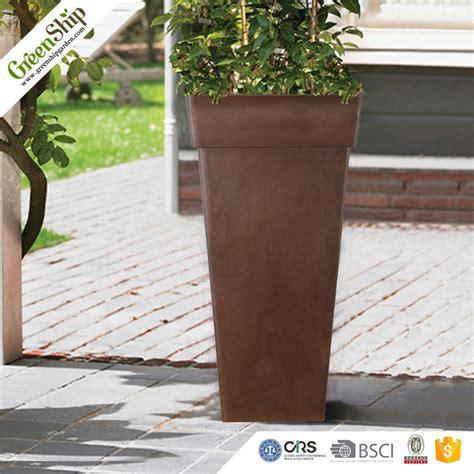 hydroponic new design tall garden plastic planter factory
