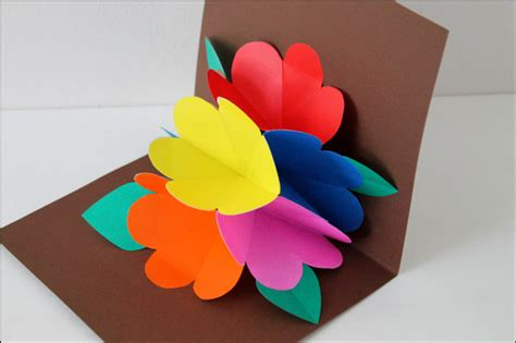 Pop Up Handmade Cards - sending across the a pop up card