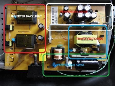 Tv Lcd Yang Bisa Buat Komputer blok rangkaian regulator lcd monitor