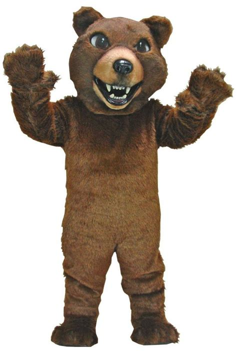 brown grizzly bear professional quality mascot costume