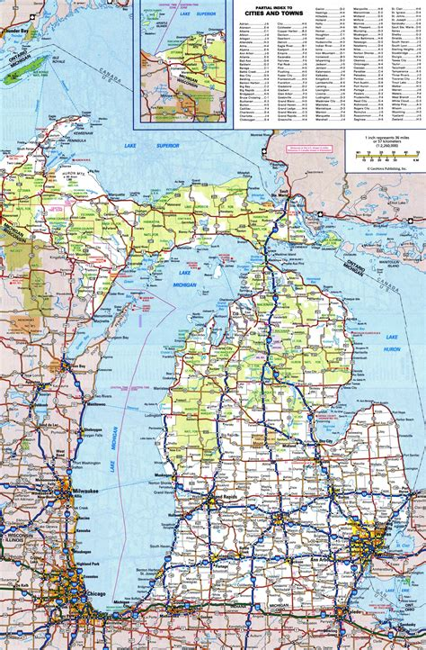 printable road maps of michigan large detailed roads and highways map of michigan state