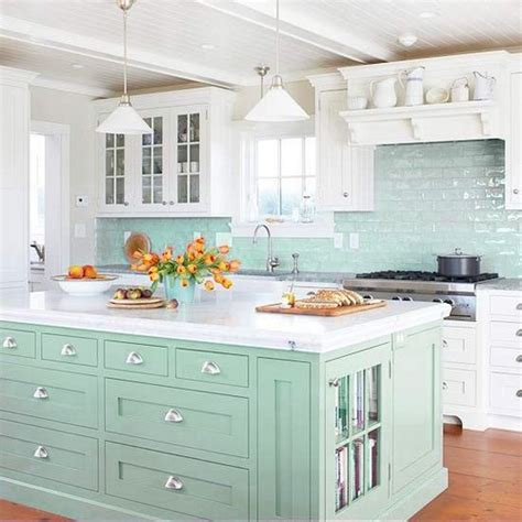 green subway tile kitchen backsplash 21 mint kitchens messagenote