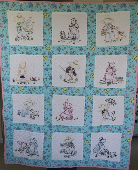 Handmade Baby Quilt Patterns - handmade baby quilt embroidered quilted
