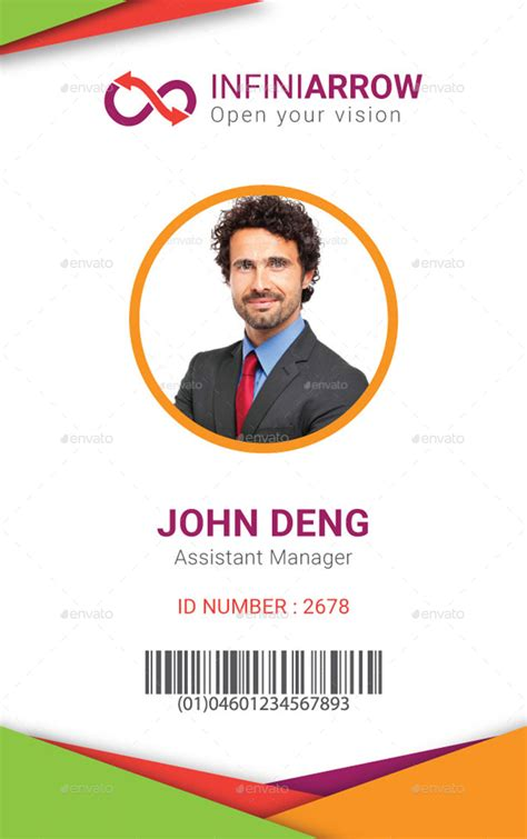 govt id card design multipurpose business id card template by dotnpix