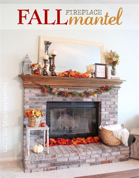 15 fall decor ideas for your fireplace mantle fall mantel makeover how to nest for less