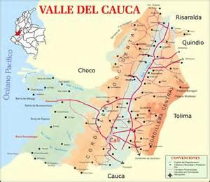 valle cauca road map size