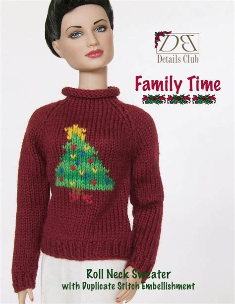 pattern for knitted roll neck sweater knitting pattern for 16 inch fashion dolls roll neck sweater