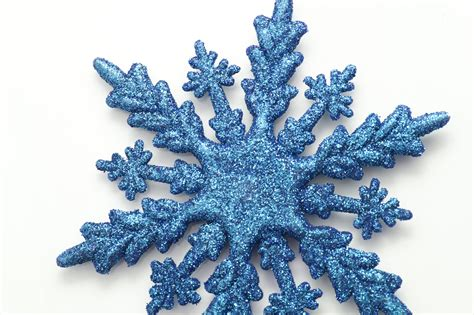 photo of decorative blue christmas snowflake free