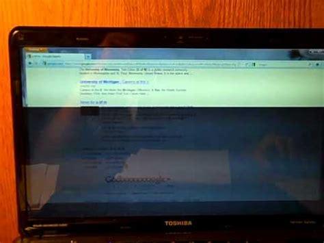 toshiba satellite laptop screen problem youtube