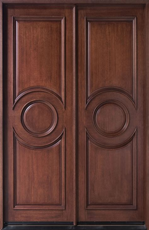 Solid Wood Doors Exterior Entry Door In Stock Solid Wood With Mahogany Finish Frenchcollection Model Db