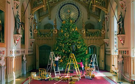 Regally decorated inside windsor castle at christmas telegraph